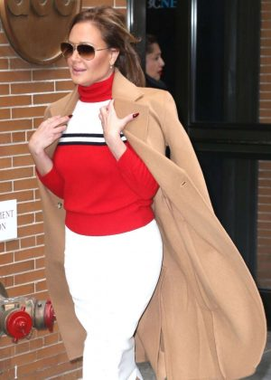 Leah Remini - Arrives at The View in New York