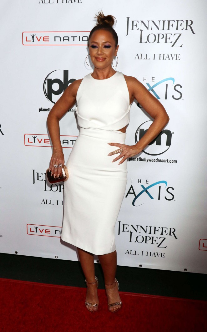 Leah Remini – Opening night of Jennifer Lopez's 'All I Have' Residency in Las Vegas