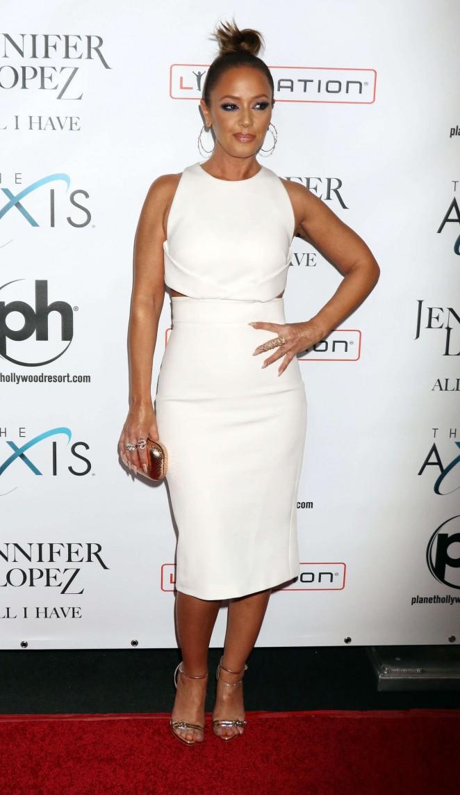 Leah Remini: Opening night of Jennifer Lopezs All I Have -03