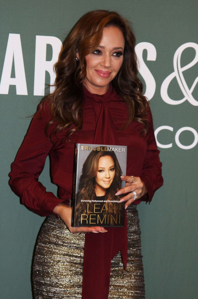 Leah Remini - 'Troublemaker - Surviving Hollywood and Scientology' at Barnes & Noble in NYC