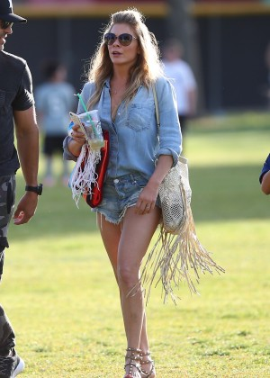 LeAnn Rimes in Jeans Shorts at Jake's Soccer Game in West Hills