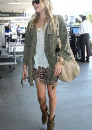 LeAnn Rimes in Mini Skirt at LAX Airport in LA