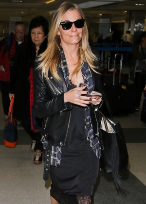 LeAnn Rimes in Black at LAX Airport in Los Angeles