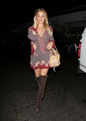 Leann Rimes in Mini Dress Night Out in LA