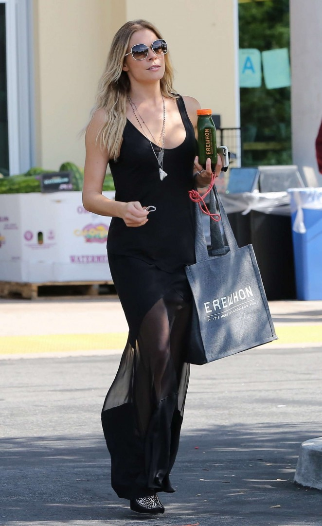 LeAnn Rimes in Black Dress out in Calabasas