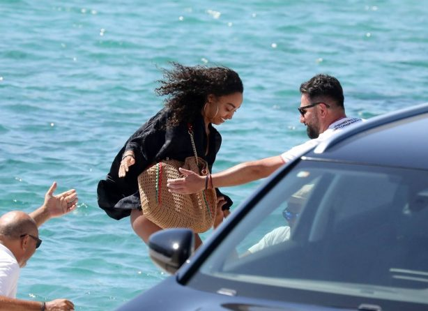 Leigh Anne Pinnock and Andre Gray - Spotted in Mykonos