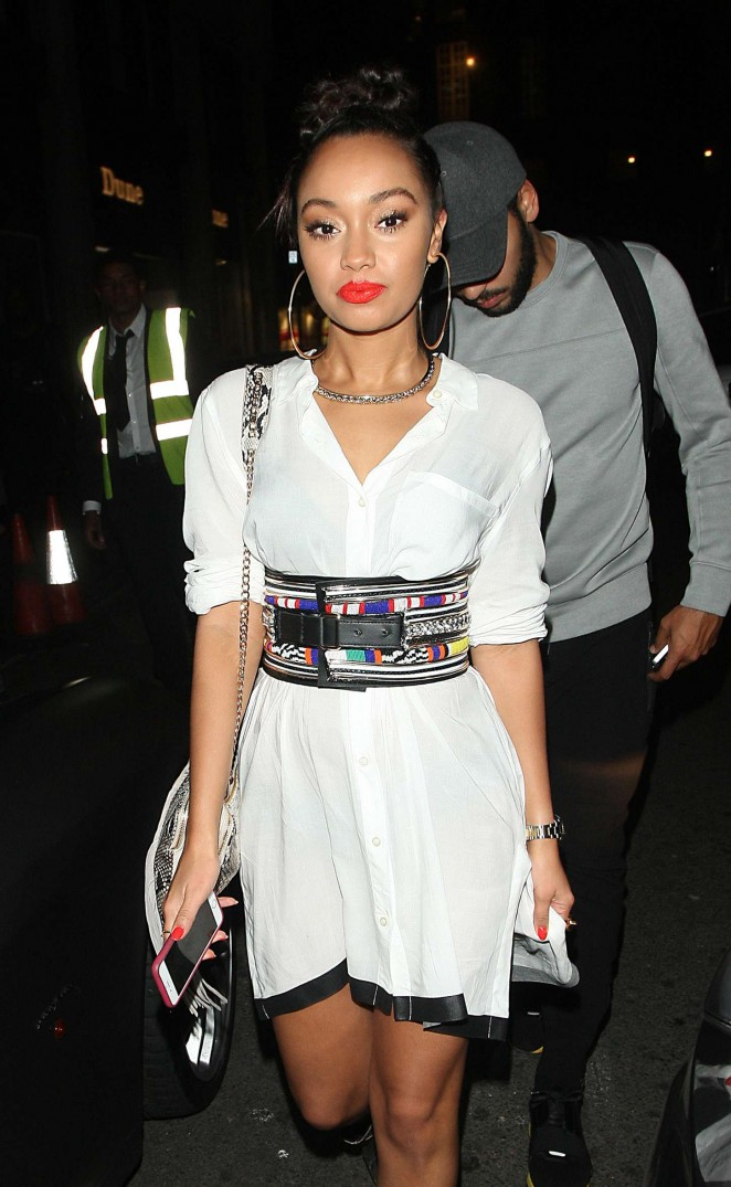 Leigh-Anne Pinnock in Mini Dress out in London