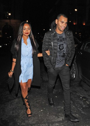 Leigh-Anne Pinnock Night Out at Mahiki in London