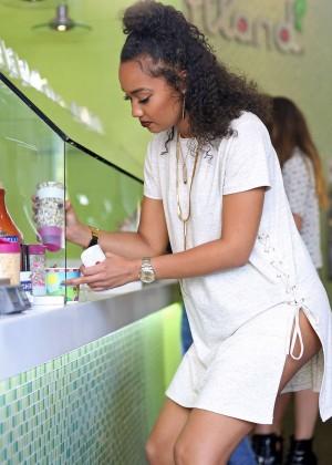 Leigh-Anne Pinnock in Mini Dress at Sweet Treats in LA