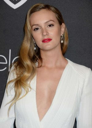 Leighton Meester - 2017 InStyle and Warner Bros Golden Globes After Party in LA