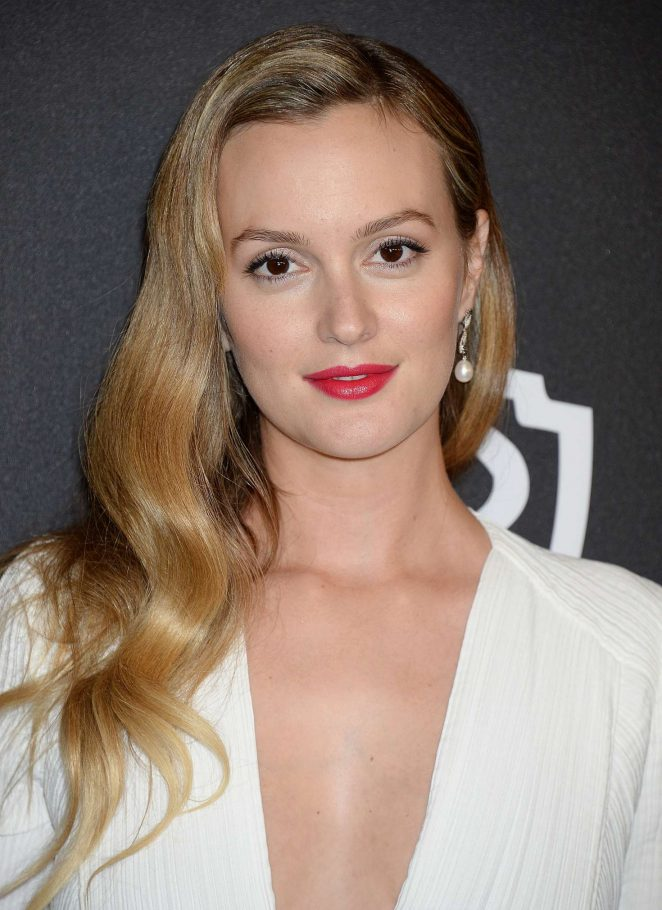 Leighton Meester: 2017 InStyle and Warner Bros Golden ...
