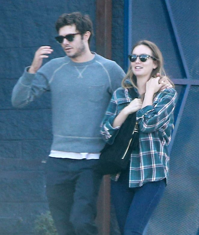 Leighton Meester and Adam Brody out for breakfast in Silverlake