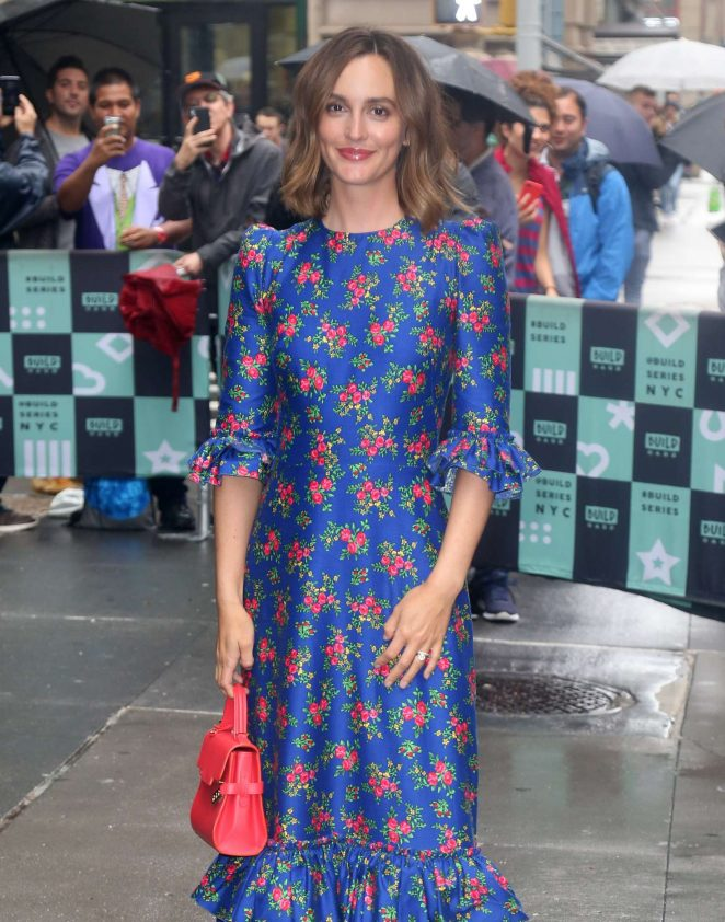 Leighton Meester – Arrives at AOL Build Speaker Series in New York