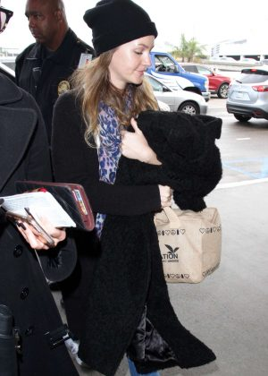 Leighton Meester at LAX Airport in Los Angeles
