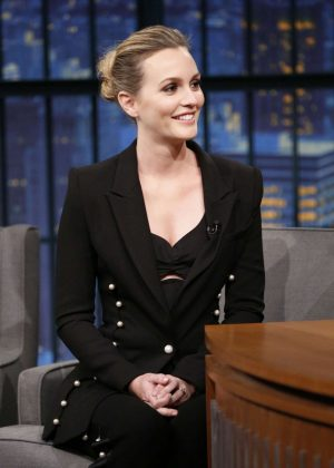 Leighton Meester on 'Late Night with Seth Meyers' in New York City