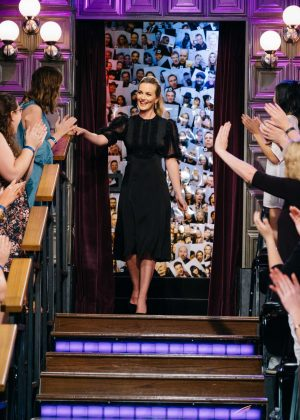 Leighton Meester on 'The Late Late Show with James Corden' in Los Angeles
