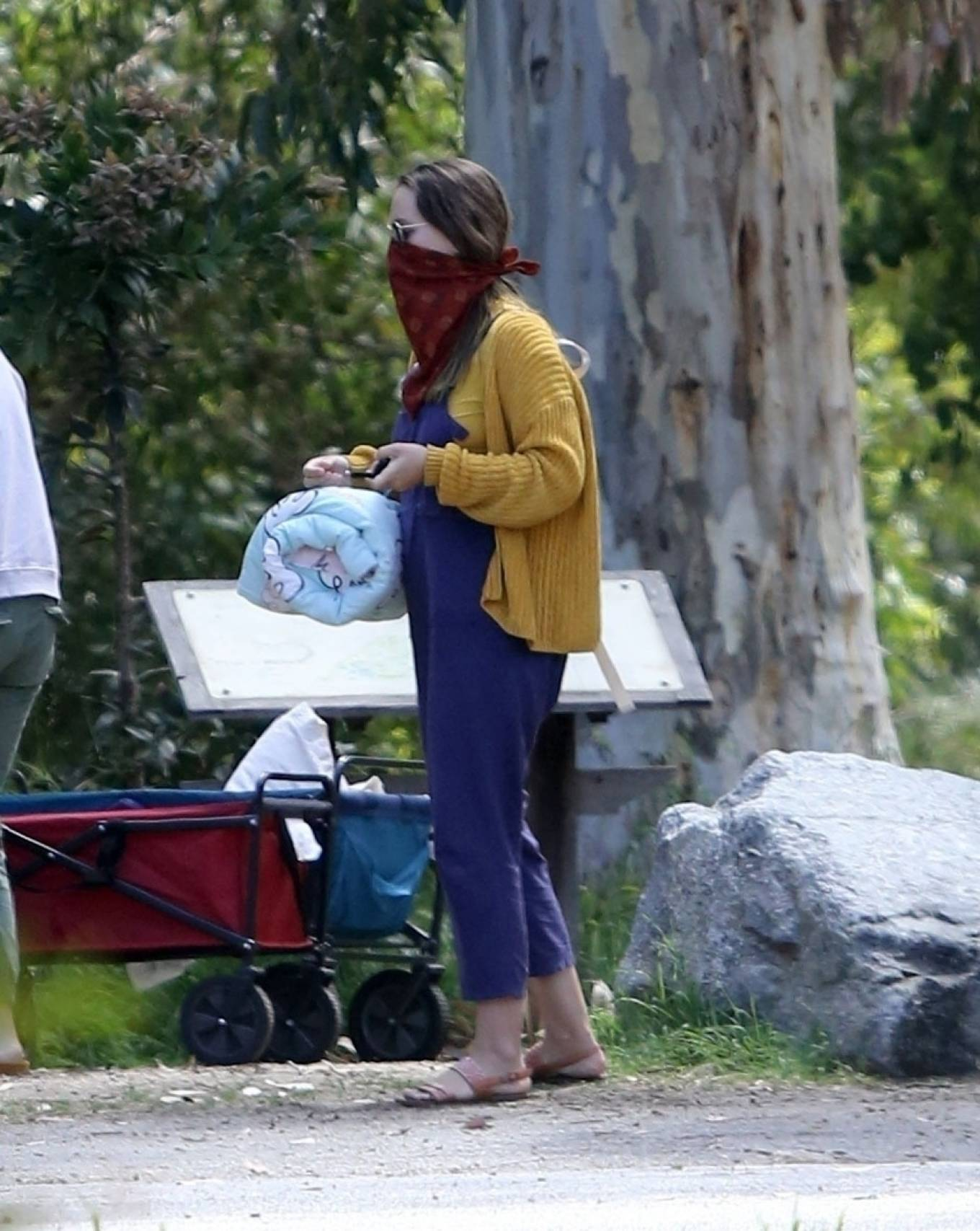 Leighton Meester - Out for a walk in the woods in Los Angeles