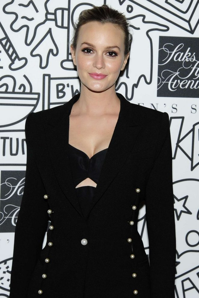 Leighton Meester - Saks Downtown Men's Grand Opening in New York