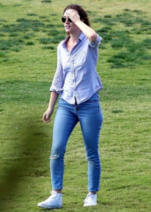 Leighton Meester - Seen at a park in LA