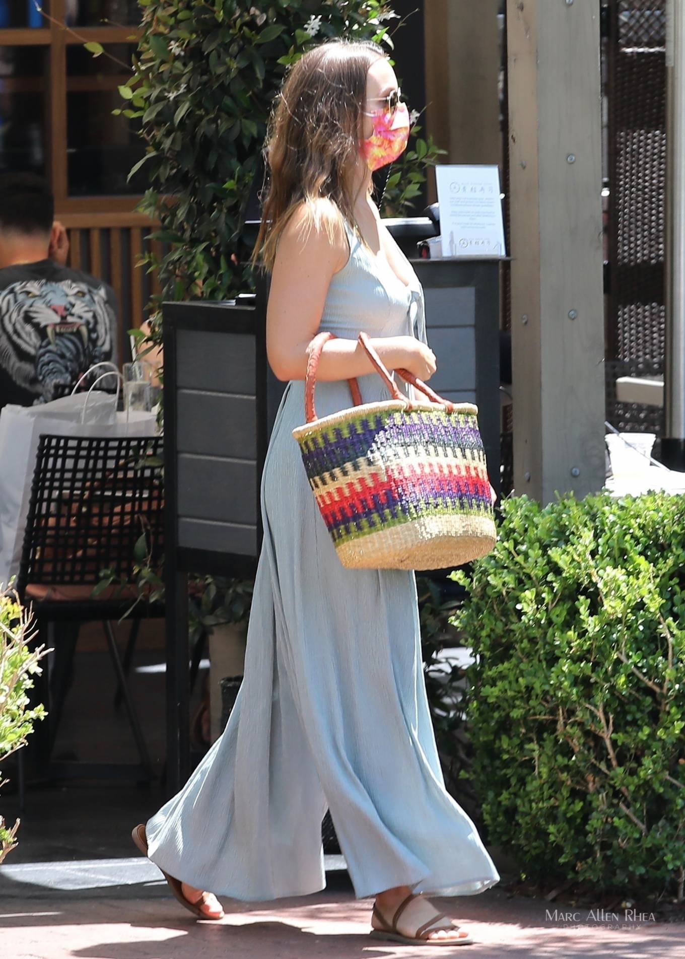 Leighton Meester - Seen with a friend at a Japanese restaurant in Brentwood
