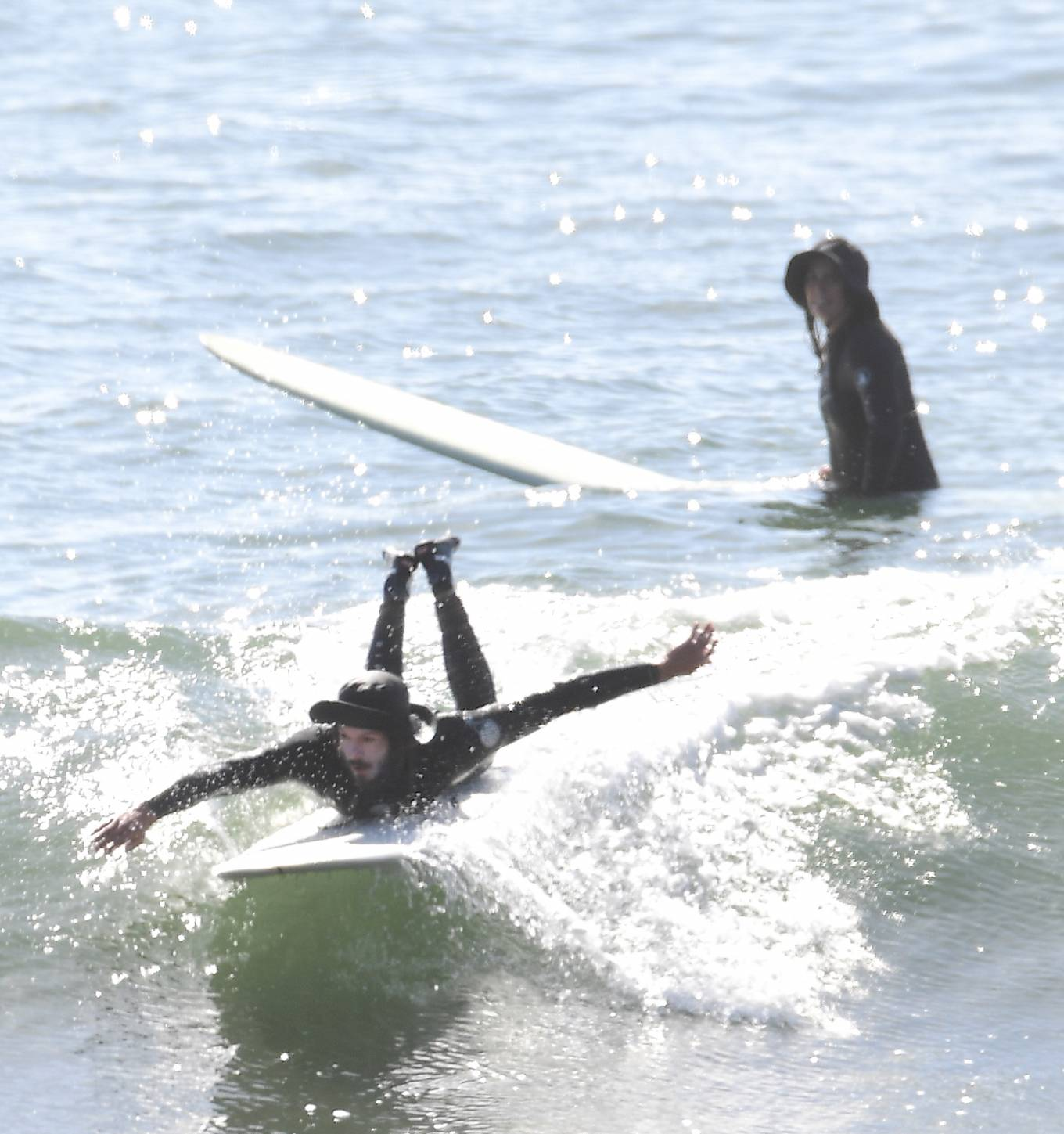 Leighton Meester 2020 : Leighton Meester with Adam Brody – Surfing session in New York-09