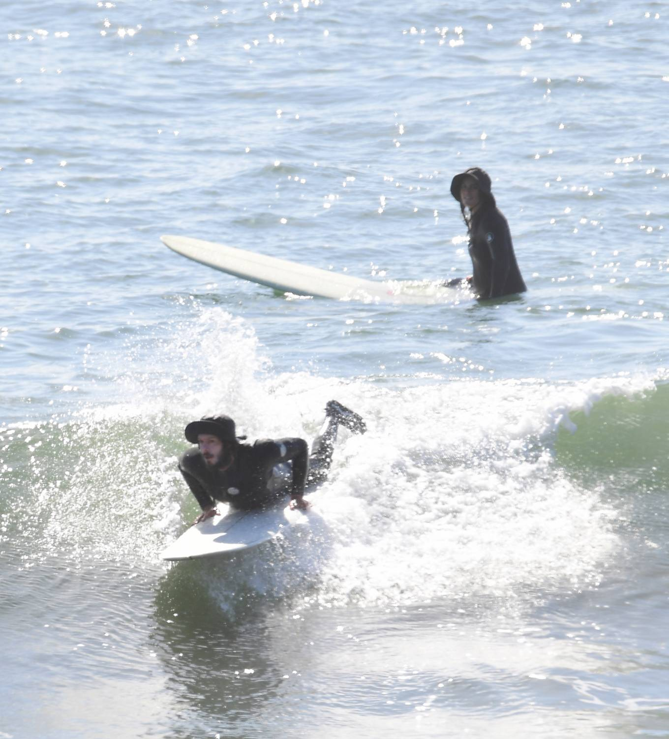 Leighton Meester 2020 : Leighton Meester with Adam Brody – Surfing session in New York-20