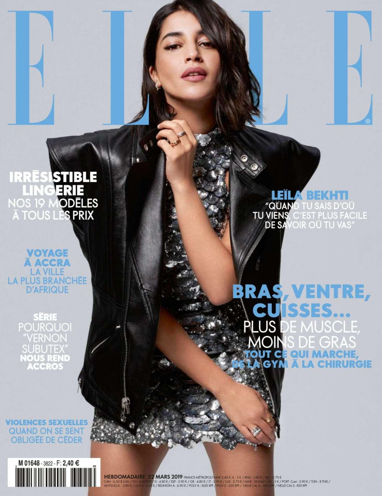 Leila Bekhti for Elle France Magazine (March 2019)