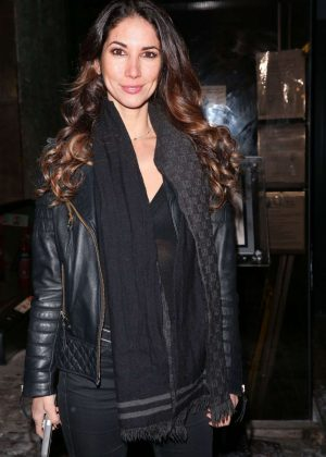 Leilani Dowding in Black at Whiskey and Spears Launch in London