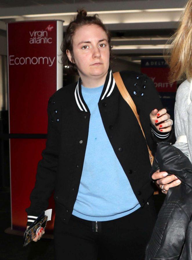 Lena Dunham at LAX airport in Los Angeles