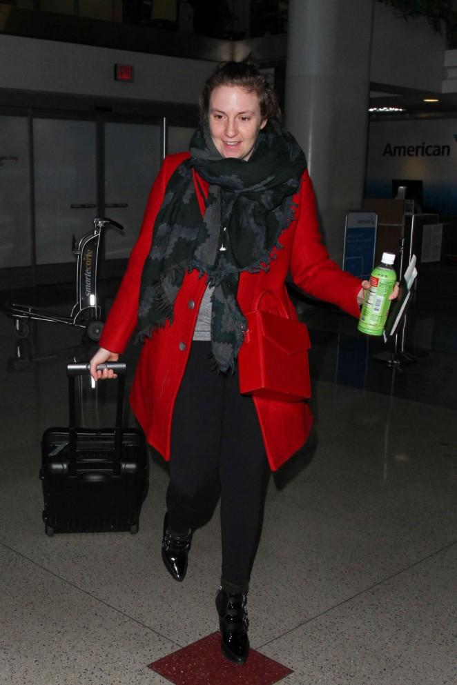 Lena Dunham at Los Angeles International Airport