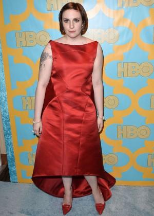 Lena Dunham - HBO Golden Globes 2015 Party