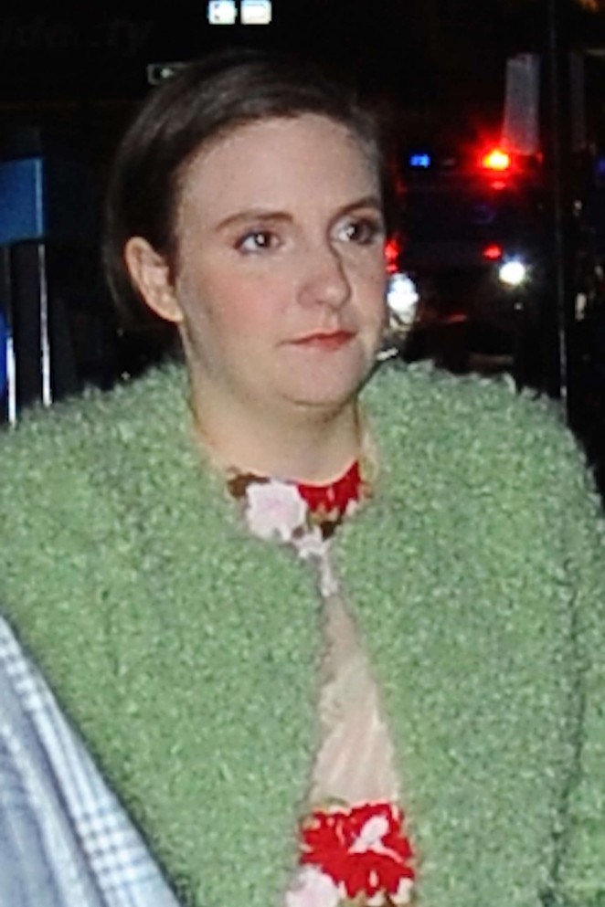 Lena Dunham out in NYC -01