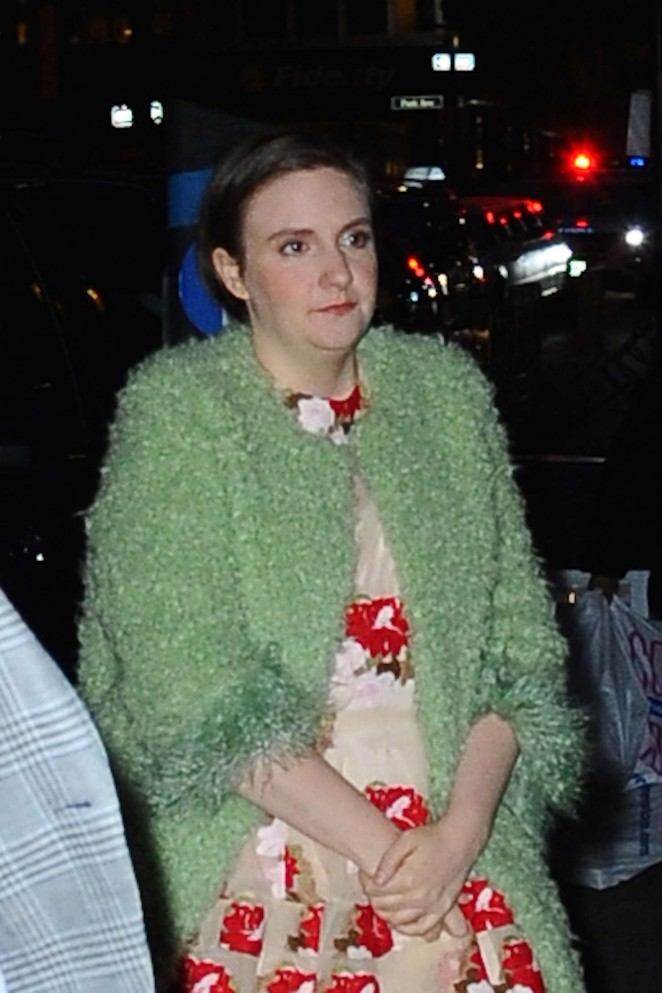 Lena Dunham out in NYC -02