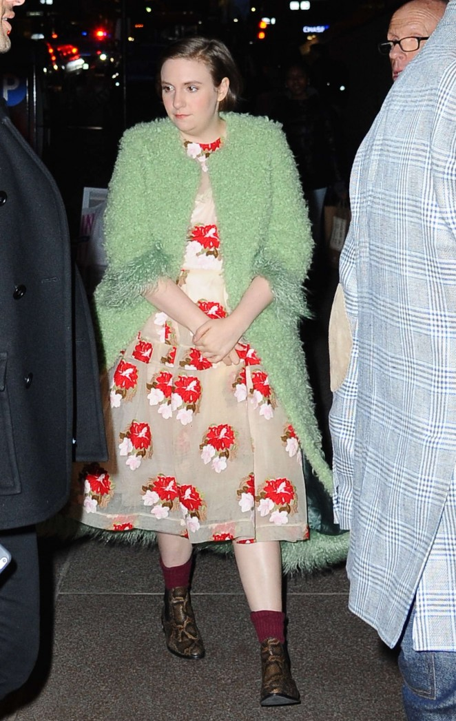 Lena Dunham out in NYC -06