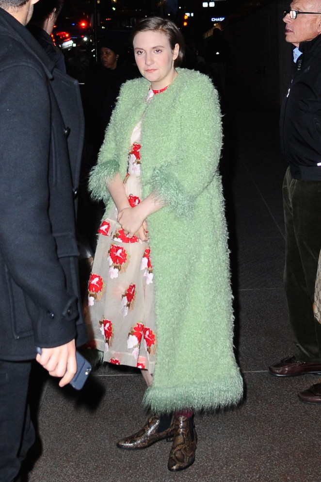 Lena Dunham out in NYC -07