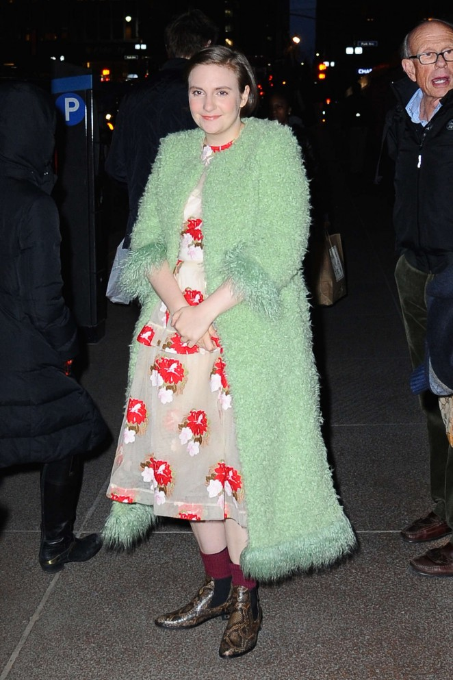 Lena Dunham out in NYC -11
