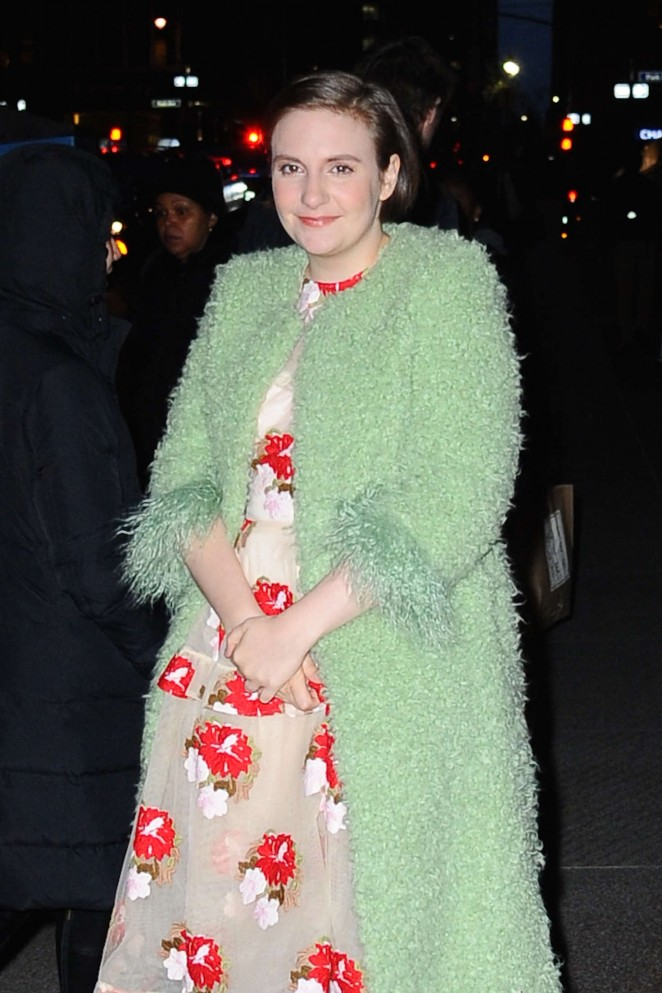Lena Dunham out in NYC -13