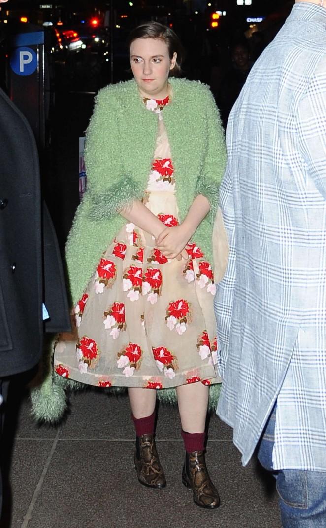 Lena Dunham out in NYC -16