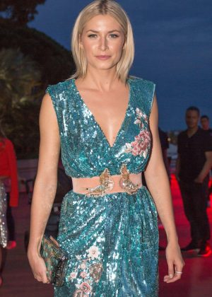 Lena Gercke - Arrives for Magnum Moschino Party in Cannes