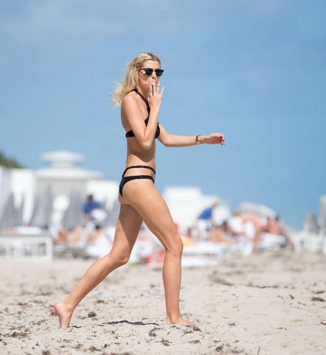 Lena Gercke In Black Bikini 22 Gotceleb