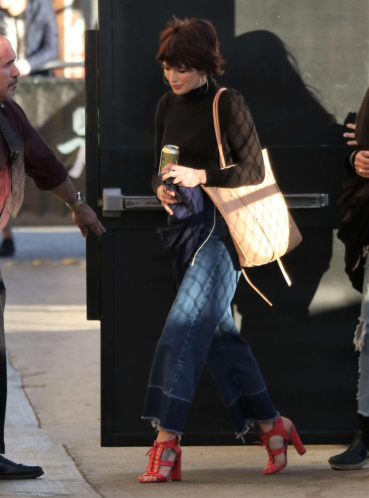 Lena Headey - Arriving at 'Jimmy Kimmel Live' in LA