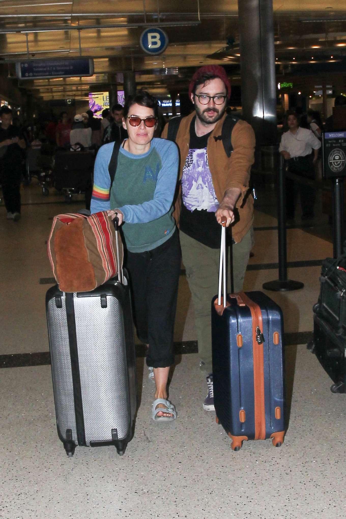 Lena Headey 2019 : Lena Headey – Arriving at LAX airport in LA-13