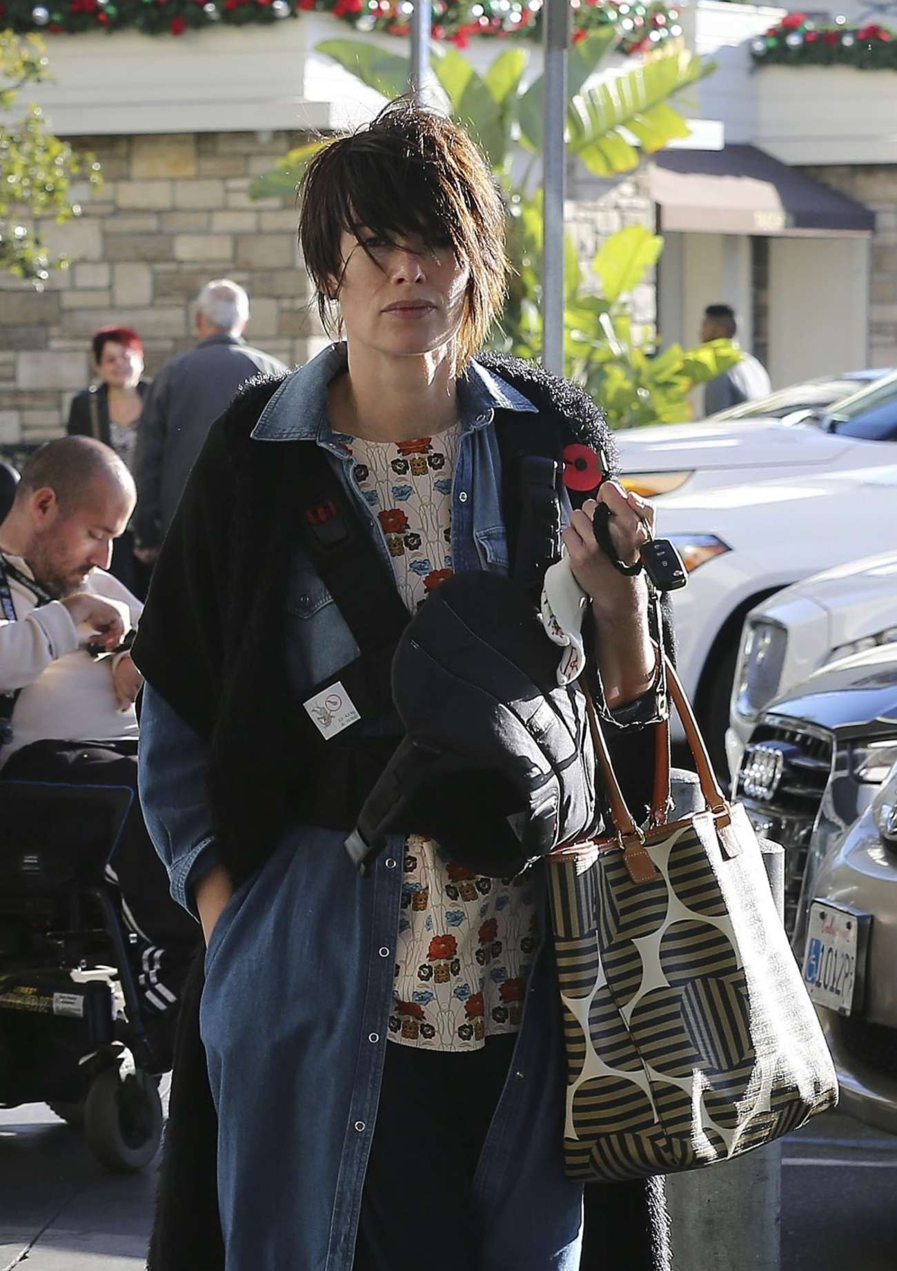 Lena Headey at Pottery Barn Kids in West Hollywood