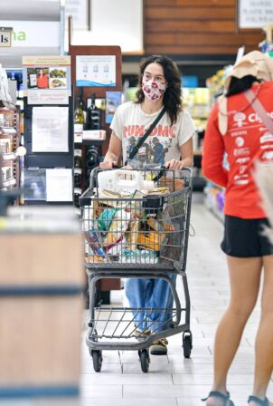 Lena Headey - grocery shopping at Gelson's Supermarket in Los Angeles