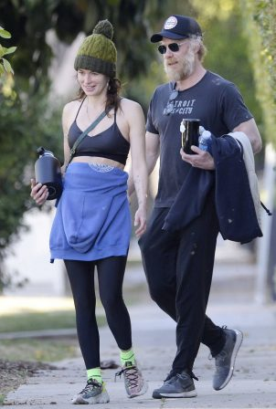 Lena Headey - Seen leaving a gym in Hollywood