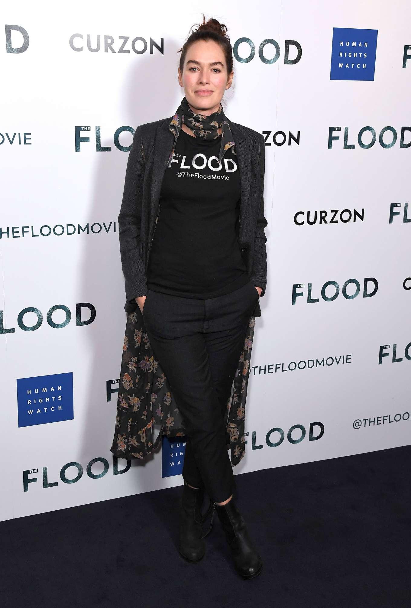 Lena Headey 2019 : Lena Headey: The Flood Screening in London-13