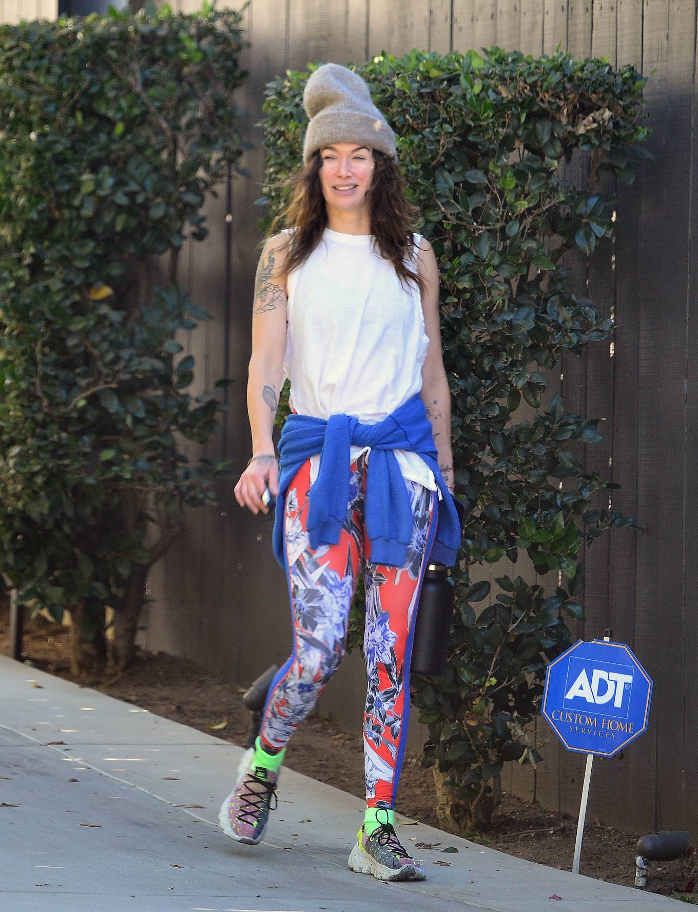 Lena Headey - Workout candids with celebrity trainer Harley Pasternak and Marc Menchaca