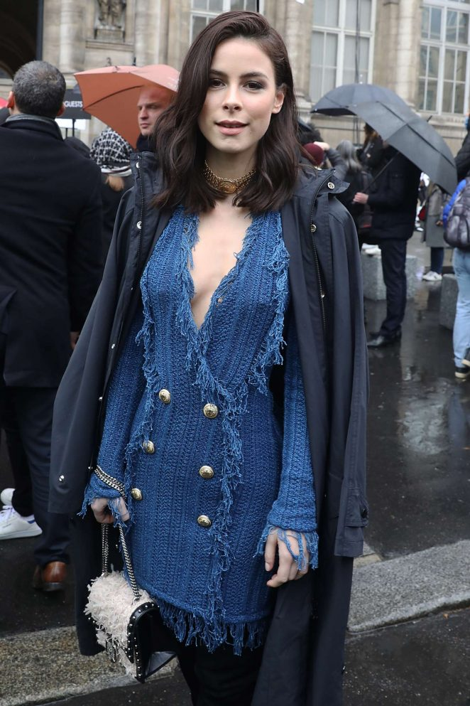 Lena-Meyer Landrut - Arriving at Balmain Show 2018 in Paris