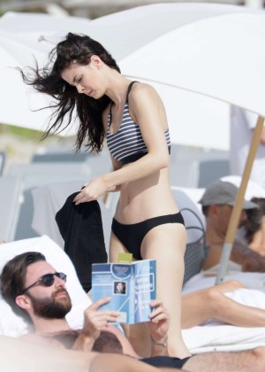 Lena Meyer-Landrut: Wearing Bikini on Vacation at a Beach in Miami (adds)-01