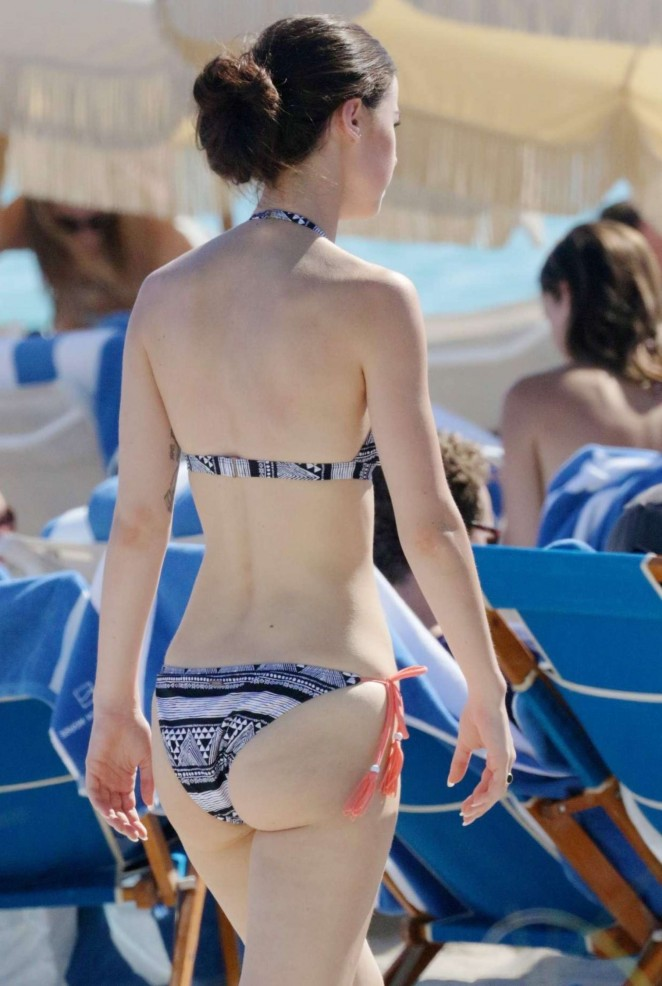 Lena Meyer-Landrut - Wearing Bikini on Vacation at a Beach in Miami (adds)